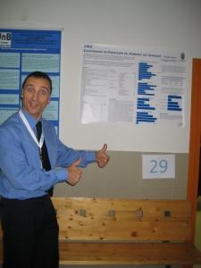Apresentando o meu poster no 2º Congresso da SIPD em Torrelavega