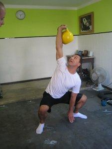 O meu primeiro treino com kettlebells
