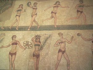 Bikini Mosaic   -  Villa Romana del Casale