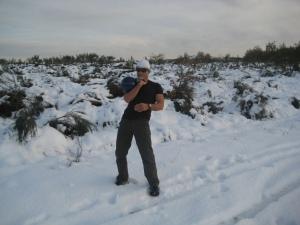 Paulo Sena treinando na neve