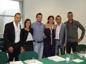 Paulo Sena, Susana Alves, Pedro Baptista, Teresa Bento, Luís Cid e João Moutão