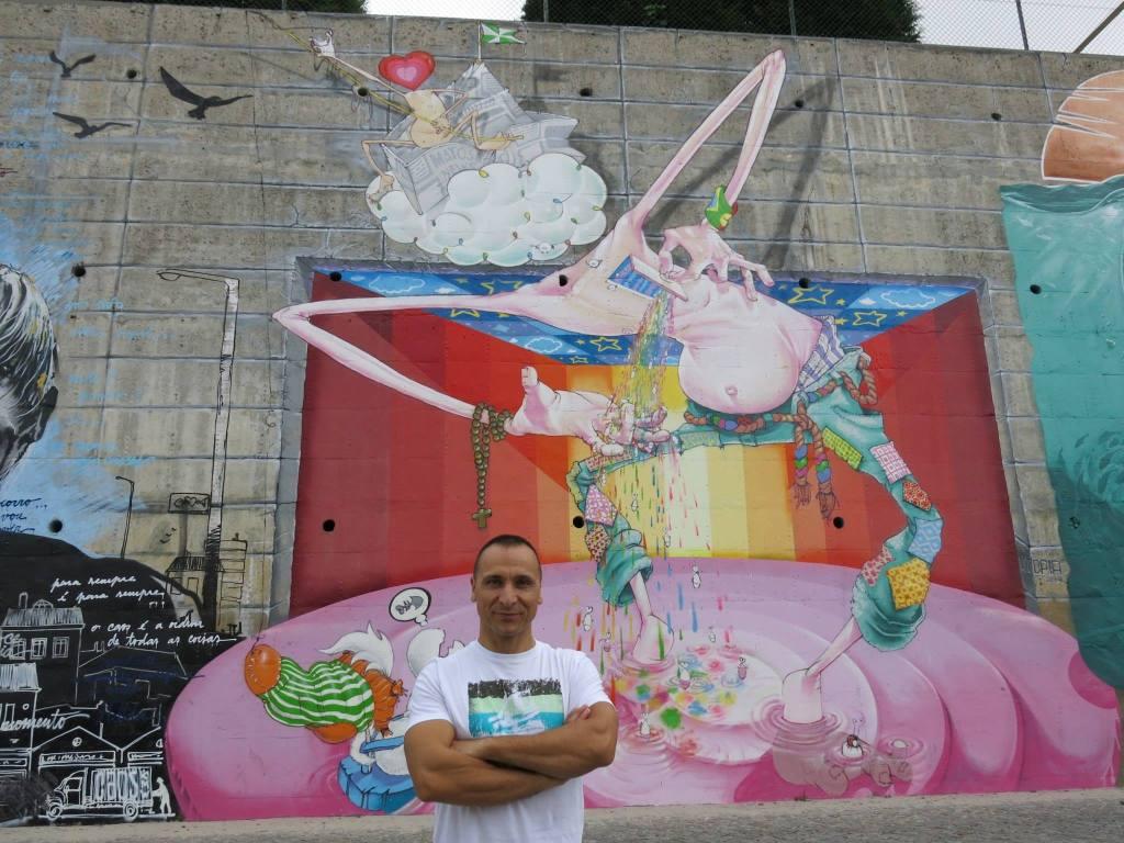 Paulo Sena no Mural da Lionesa-Unicer