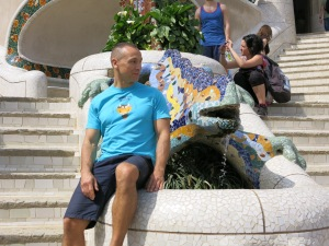 Paulo Sena no Parque Guell em Barcelona
